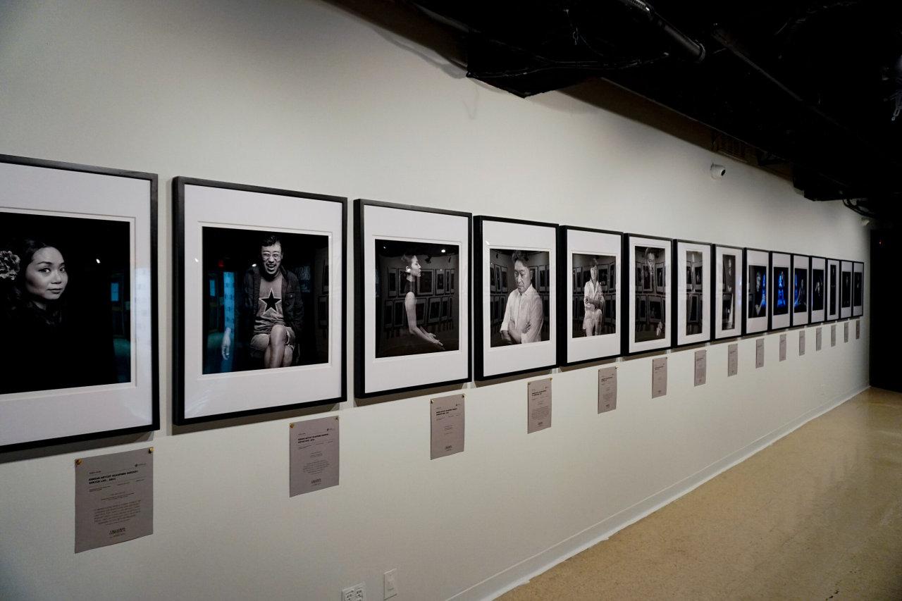 "Installation view of ""Creation Continua: Park Joon Photo Portraits of Korean Artist Diaspora in Greater New York"" at the Korean Cultural Center New York (The Korean Cultural Center New York)"