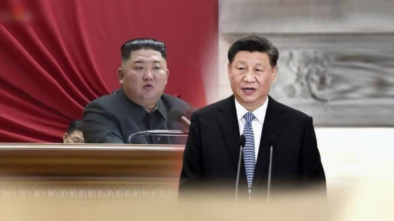 This graphic image shows North Korean leader Kim Jong-un (L) and Chinese President Xi Jinping. (Yonhap)
