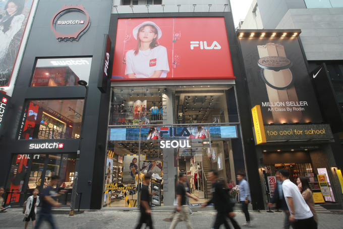 One of Fila's flagship stores in Myeong-dong, Seoul (Fila Korea)