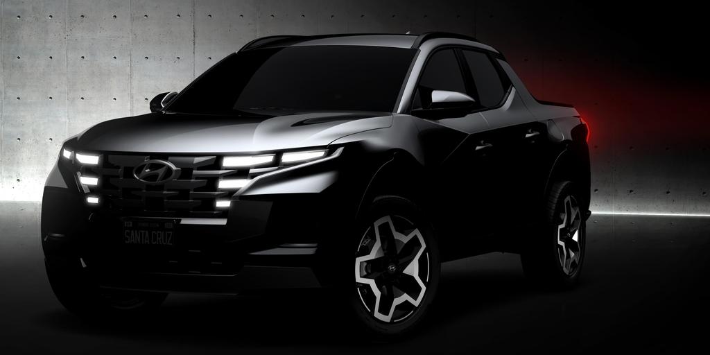 This photo provided by Hyundai Motor shows the front of the Santa Cruz SAV. (Hyundai Motor Group)