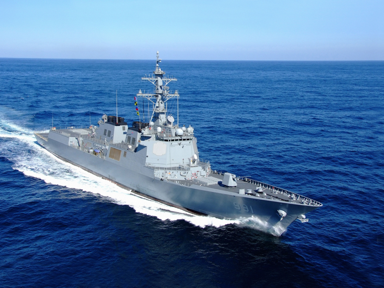 Sejong class destroyer, South Korea's first Aegis warship commissioned in 2008. (Yonhap)