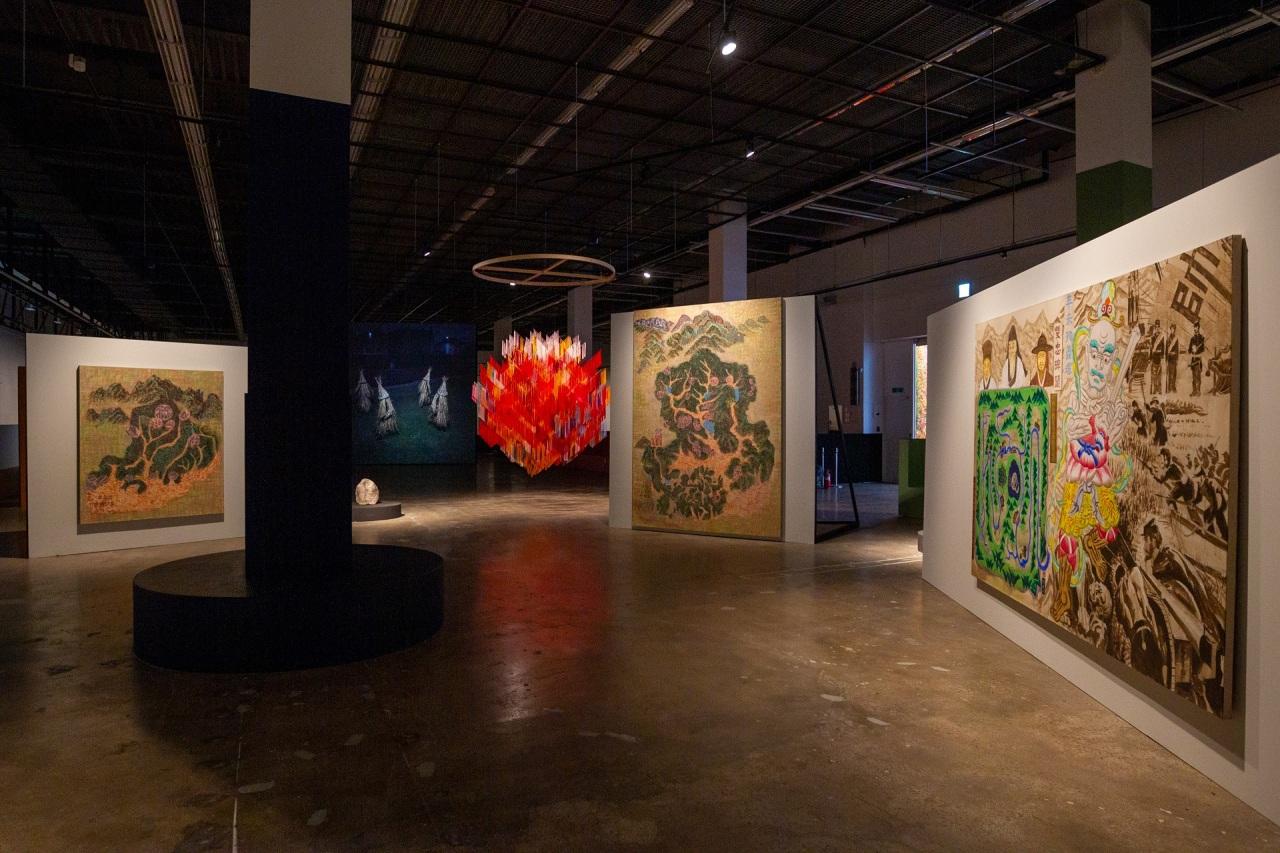 Installation view of the Gwangju Biennlae Exhibition Hall 1 (Gwangju Biennale Foundation)