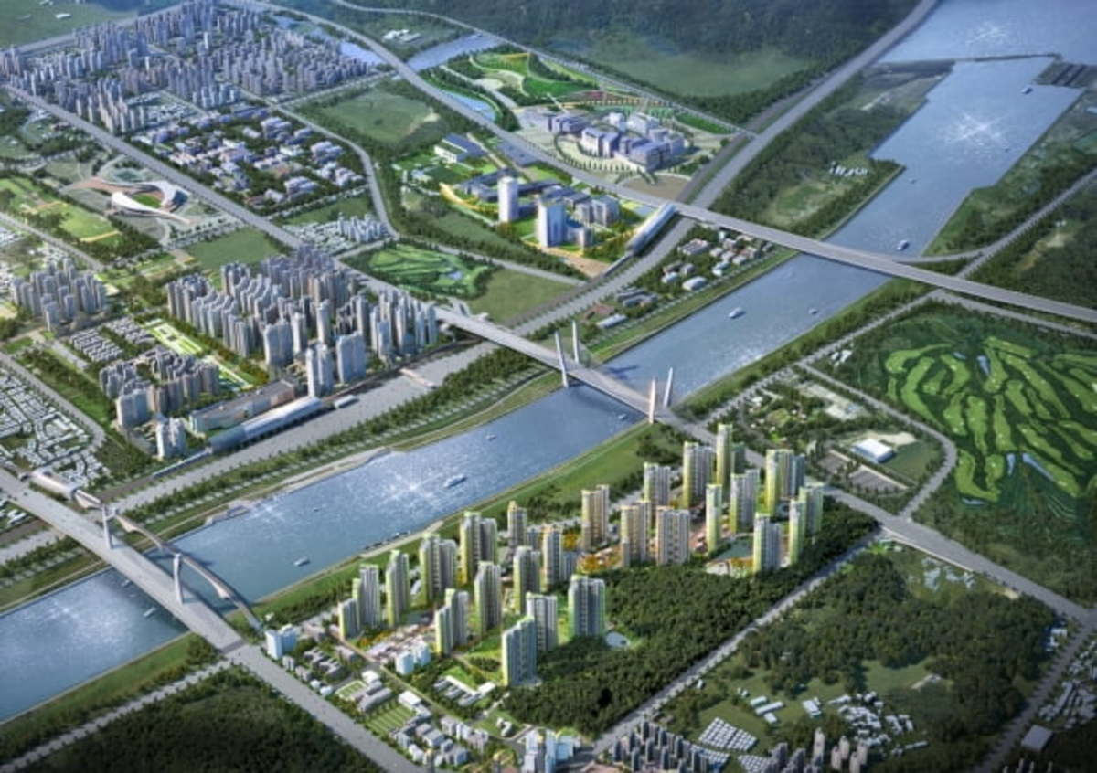 This image, provided by the Incheon Metropolitan Government, shows an illustration of a city development project in Seo Ward. (Incheon Metropolitan Government)