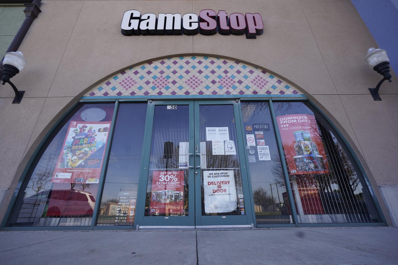 The image shows a GameStop storefront. (AP-Yonhap)