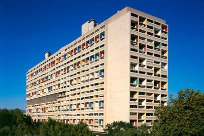 The Unite d'habitation in Marseille, France, designed by French architect Le Corbusier and inaugurated in 1952 (Fondation Le Corbusier)