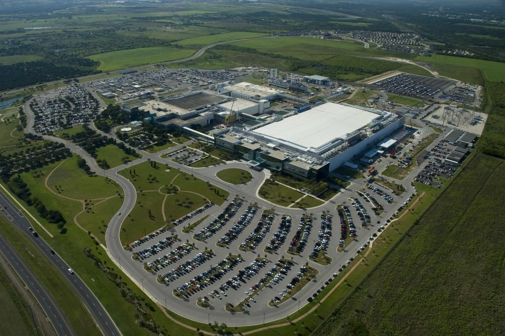 This photo provided by Samsung Electronics Co. on March 30, 2021, shows the company's chip plant in Austin, Texas. (Samsung Electronics Co.)