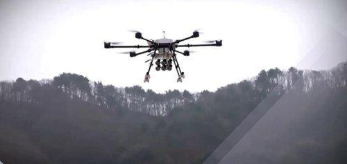 This photo provided by the Defense Acquisition Program Administration (DAPA) on Sept. 15, 2020, shows a test of a drone for combat purposes. (Defense Acquisition Program Administration )