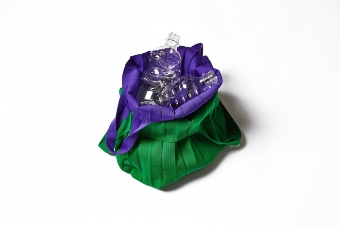 Local eco-fashion label Pleatsmama's eco-bag is made with recycled plastic bottles. (Hyosung)