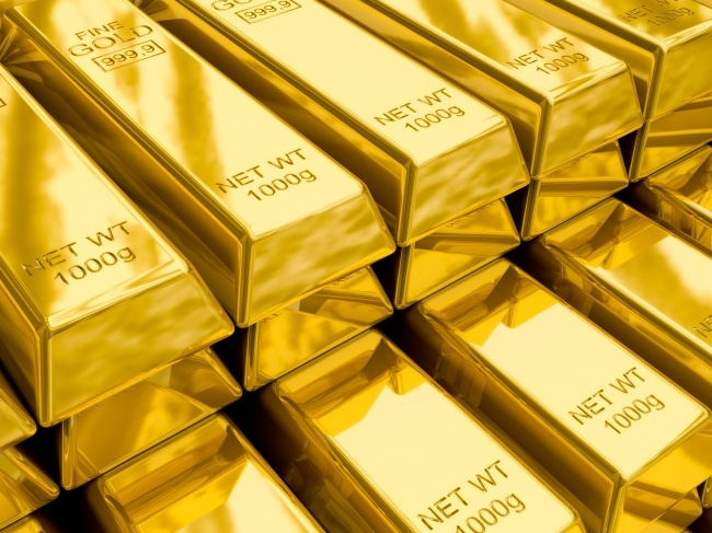 A stack of gold bars (123rf)