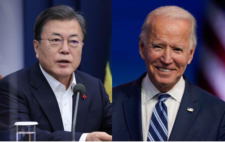 President Moon Jae-in and US President Joe Biden (Yonhap)