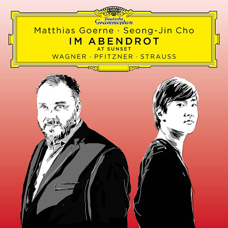 """Cover of Baritone Matthias Goerne (left) and pianist Cho Sung-jin's new album """"Im Abendrot"""" (Universal Music)"""