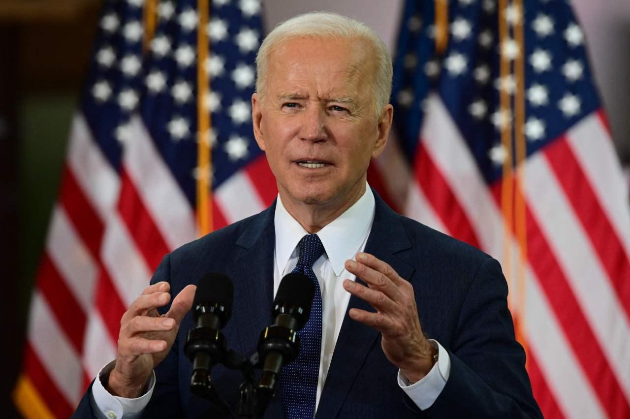 In this file photo taken on March 31, 2021 US President Joe Biden speaks in Pittsburgh, Pennsylvania. (AFP-Yonhap)