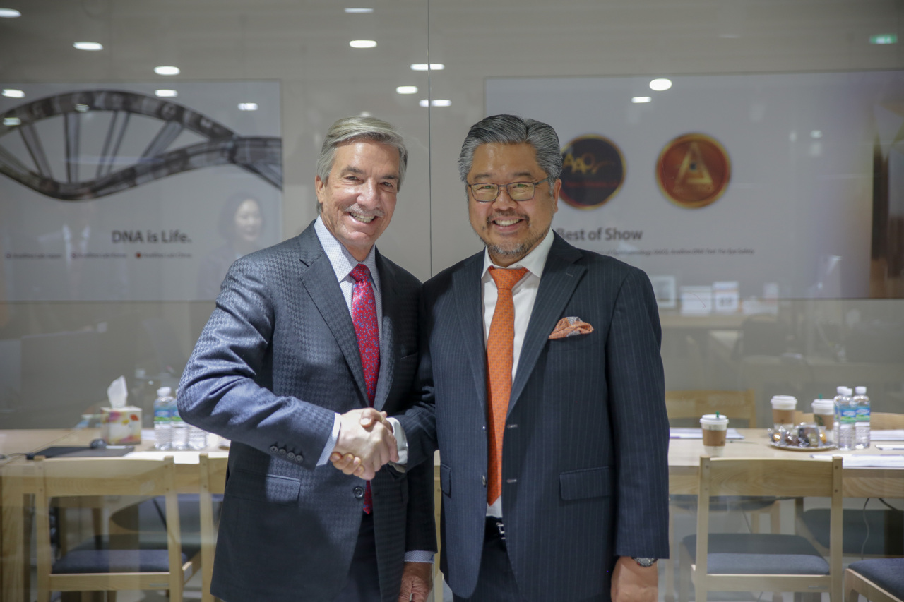 Avellino Labs CEO James Mazzo (left) and founder and Chairman Gene Lee (Avellino Labs)