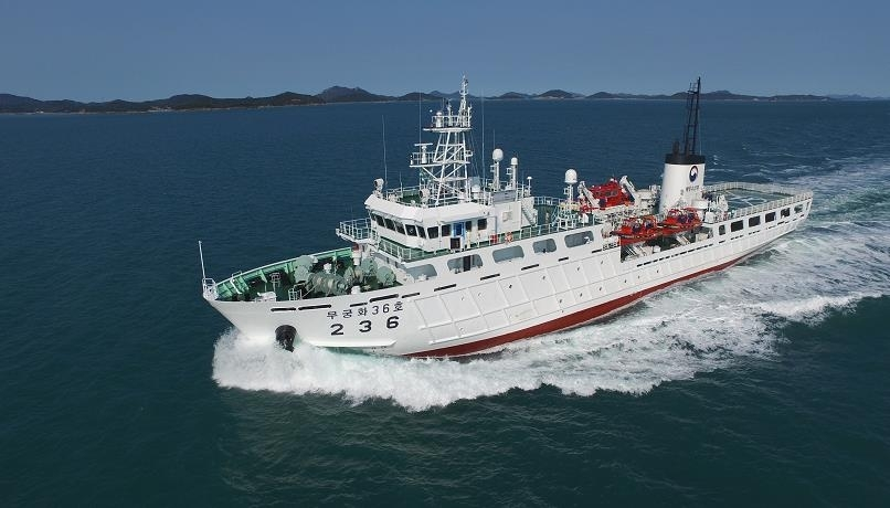 This photo released by the Ministry of Oceans and Fisheries shows a 2,000-ton patrol ship, which will be deployed to crack down on illegal fishing boats in South Korea's exclusive economic zone (EEZ). (Ministry of Oceans and Fisheries)