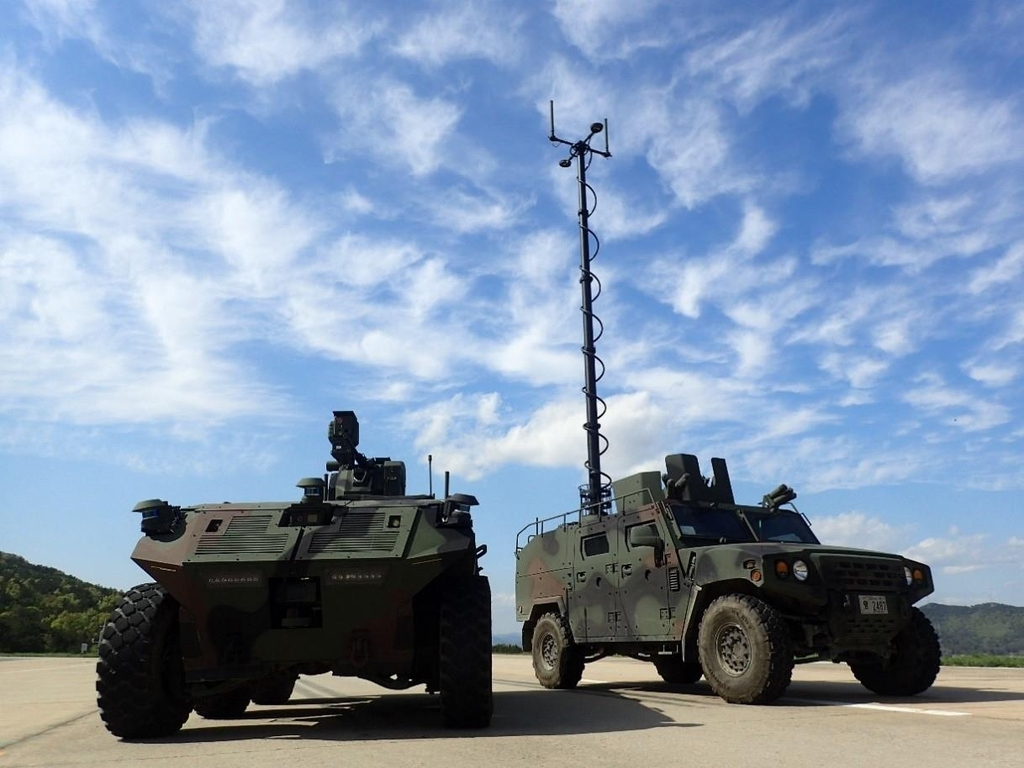 This photo provided by the Defense Acquisition Administration (DAPA) on Thursday, shows unmanned surveillance vehicles under development that will deployed by around 2027. (DAPA)