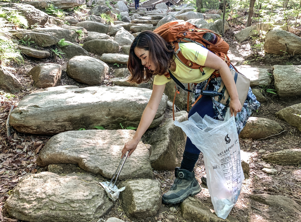 Clean Hikers founder Kim Kang-eun (Clean Hikers)