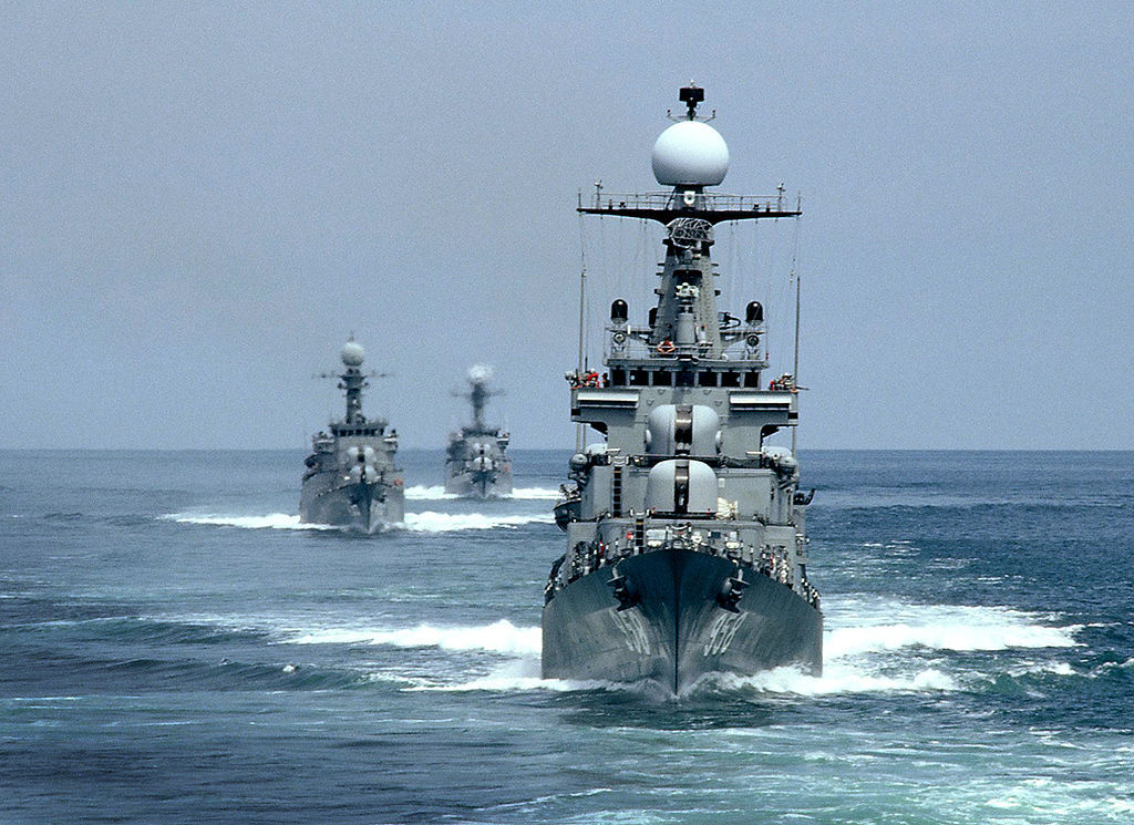 This undated file photo provided by the Navy shows three of its vessels.(Navy)