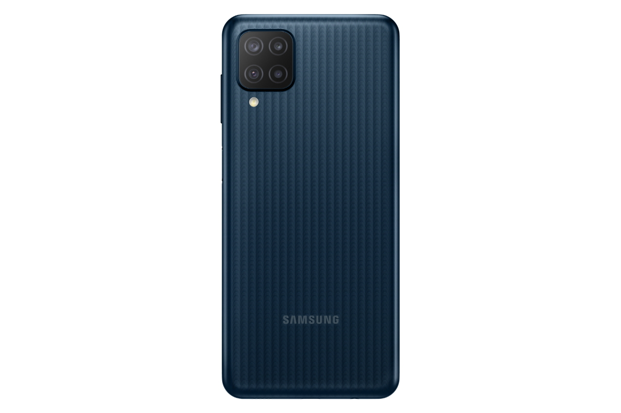 This photo provided by Samsung Electronics Co. on Monday, shows the Galaxy M12 smartphone. (Samsung Electronics Co.)