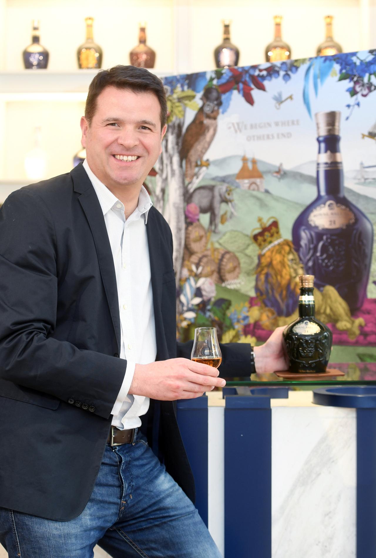 Marketing director Florent Leroi holding the Royal Salute 21YO Malt.(PRK)