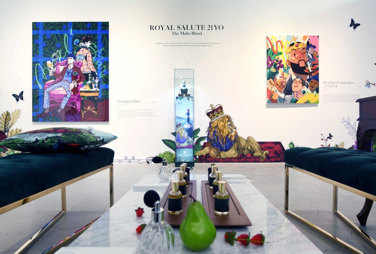 An auction preview is held in March as part of the Royal Salute Contemporary Art Digital Festival. (PRK)