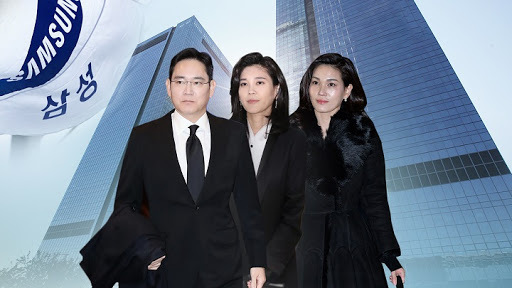 From left are Samsung Electronics Vice Chairman Lee Jae-yong, Hotel Shilla CEO Lee Boo-jin and Samsung Welfare Foundation chief Lee Seo-hyun. (Yonhap)