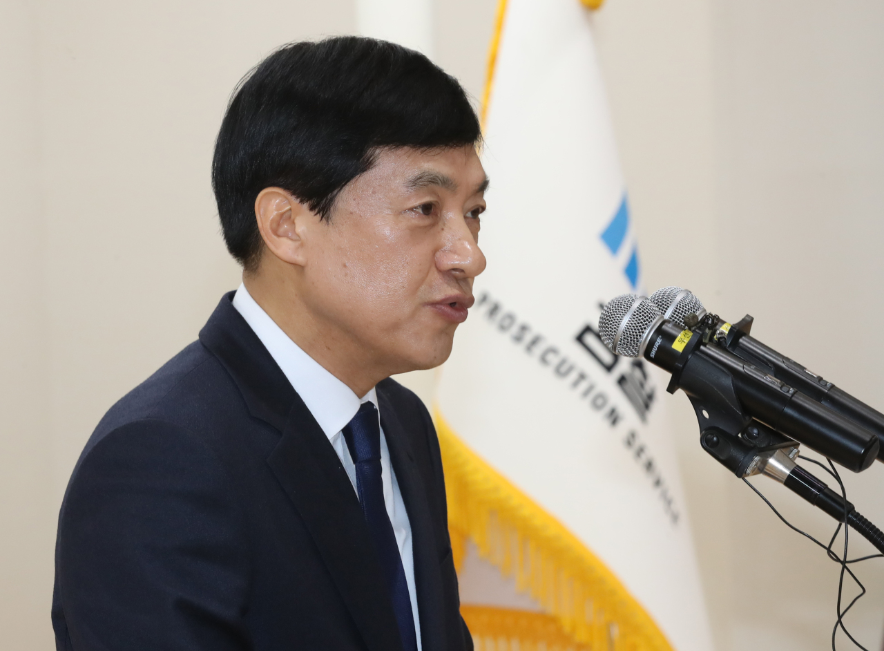 The file photo taken in January 2020 shows Lee Sung-yoon, chief of the Seoul Central District Prosecutors Office. (Yonhap)