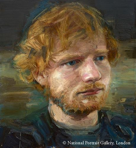 This image, provided by the National Portrait Gallery, London, shows British singer-songwriter Ed Sheeran. (National Portrait Gallery)