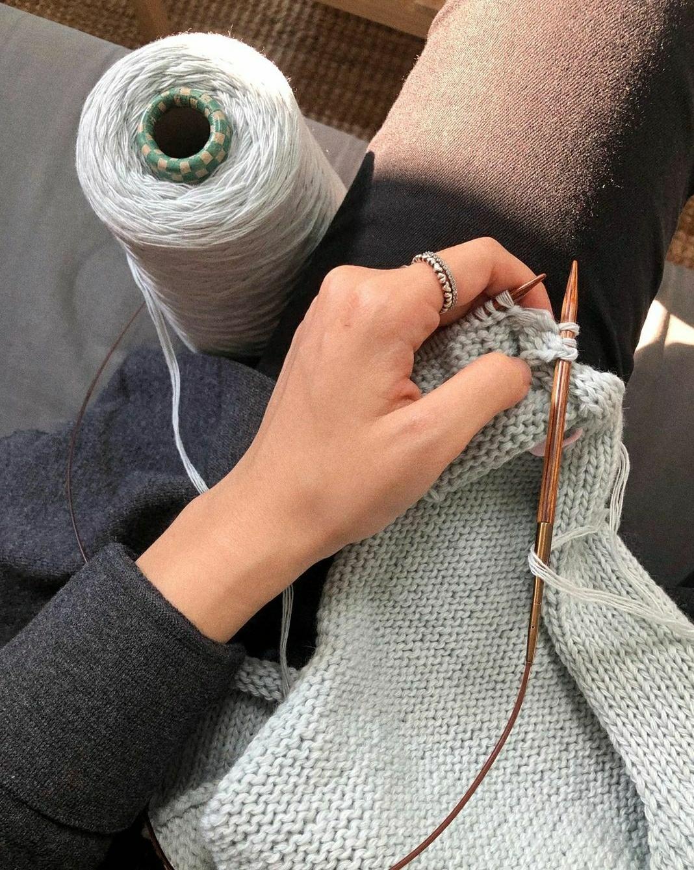 Gwon Hyo-mi knits her own clothes. (Courtesy of Gwon)