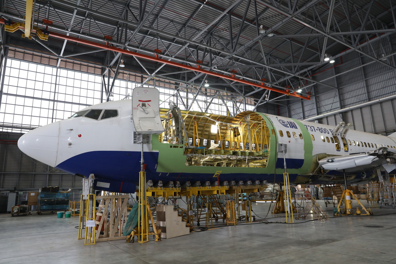 An aircraft is being converted at IAI's facility in Ben Gurion Airport, Israel. (IIAC)
