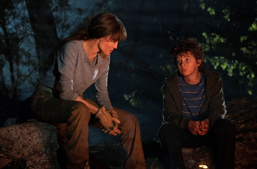 """A scene from action thriller """"Those Who Wish Me Dead"""" starring Angelina Jolie and Finn Little (Warner Bros.)"""
