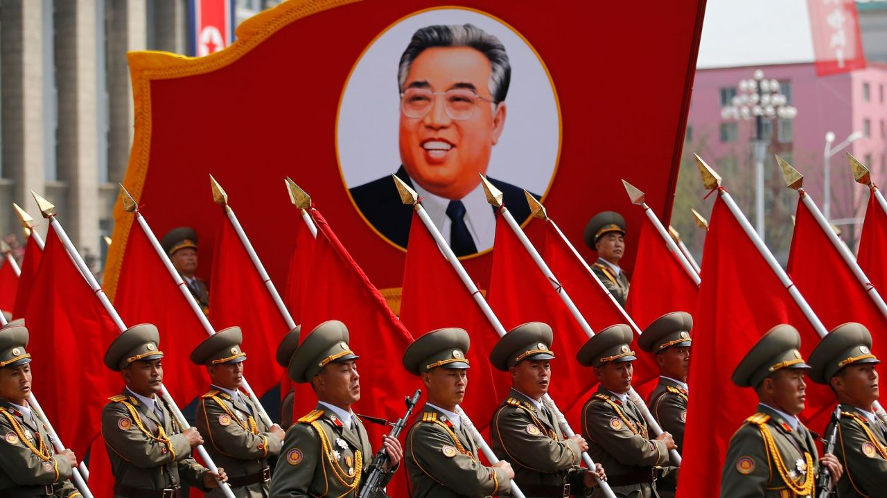 The April 15 Day of the Sun, or the birth anniversary of North Korea's founder Kim Il-sung, is the nation's biggest national holiday. (Reuters-Yonhap)