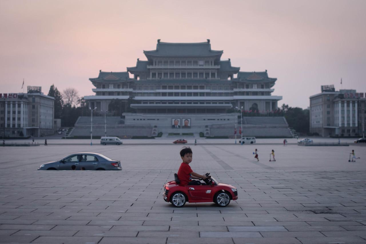 Kim Il-sung Square in Pyongyang. (AFP-Yonhap)