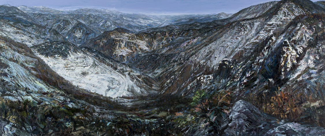 """""""Baekdu Mountains"""" by Hwang Jai-hyoung (Courtesy of the artist)"""