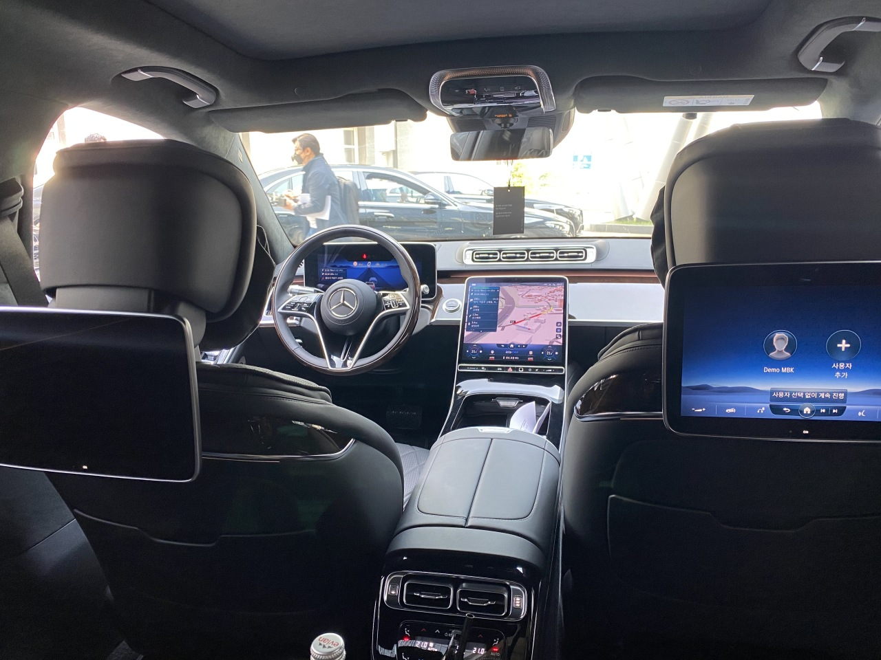 Inside Mercedes-Benz S 580 4Matic (Jo He-rim/The Korea Herald)