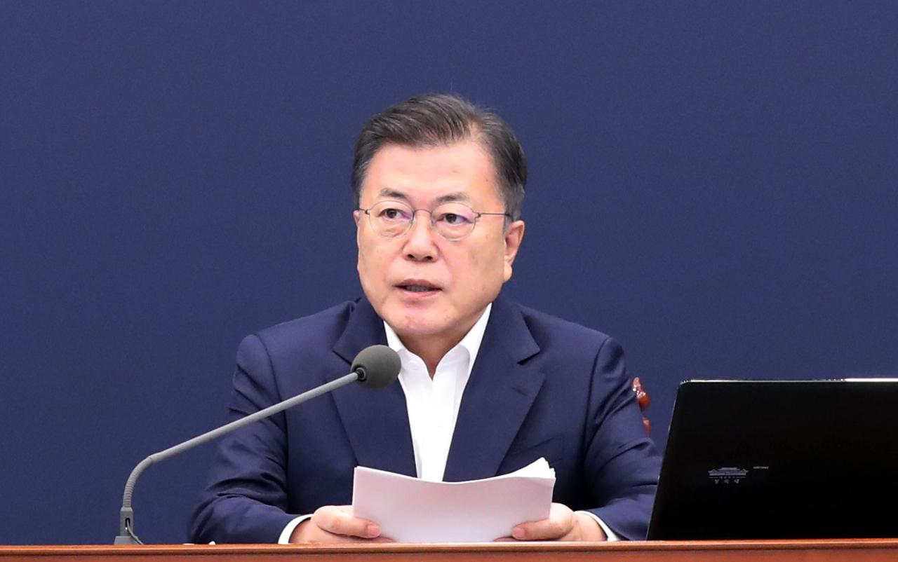 This May 3, 2021, file photo shows South Korean President Moon Jae-in. (Yonhap)