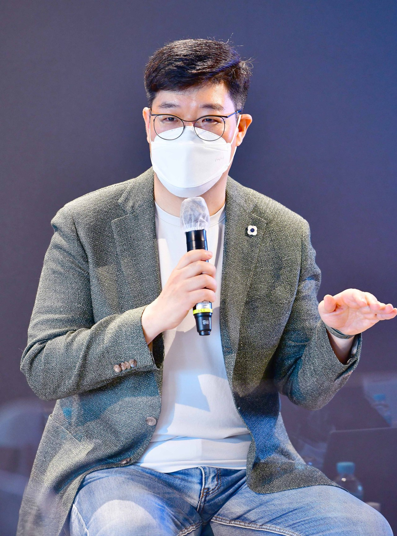 Ryu Jung-hee, founder and CEO of Future Play, talks during a press conference on Tuesday. (Future Play)
