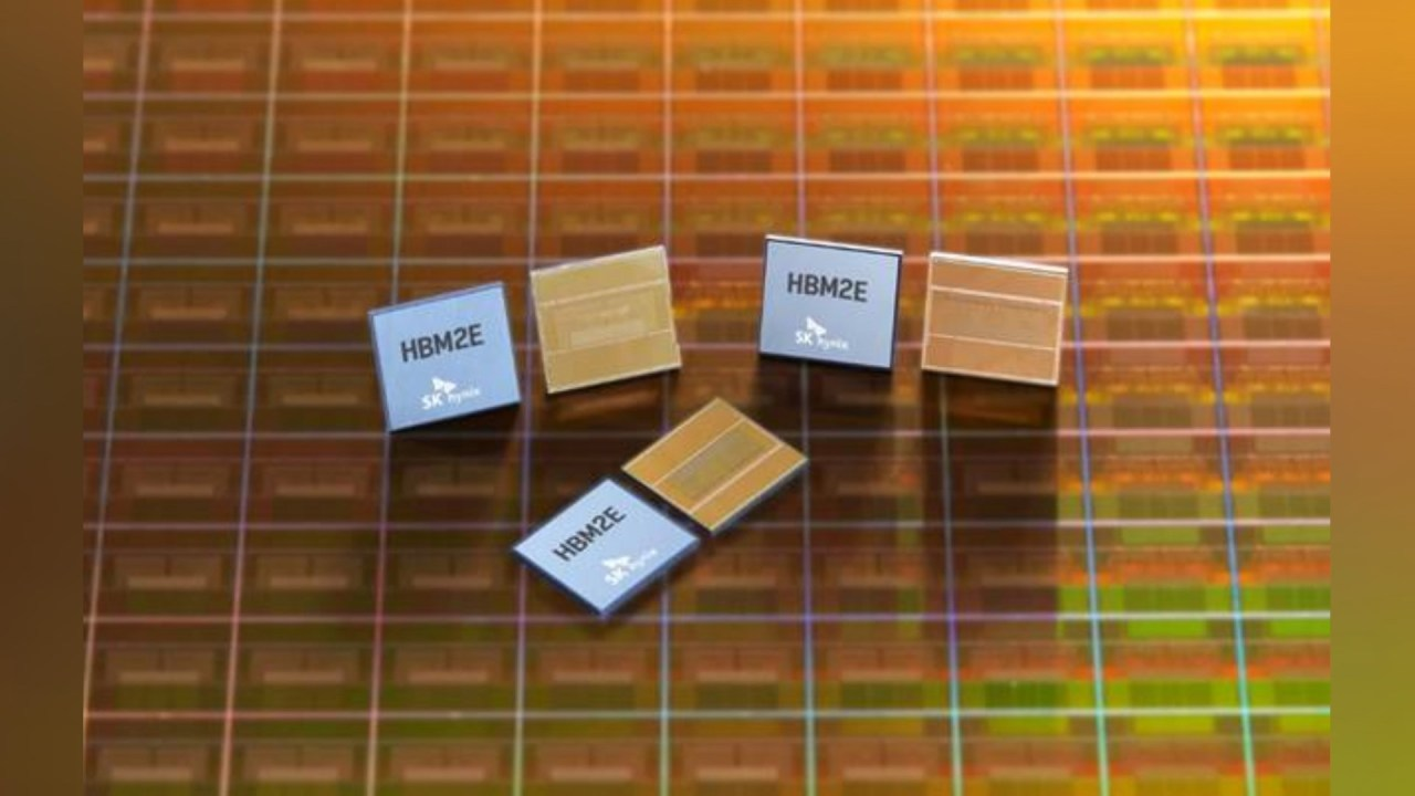 This file photo, provided by SK hynix Inc. on July 23, 2020, shows the company's HBM2E DRAM products. (SK hynix Inc.)
