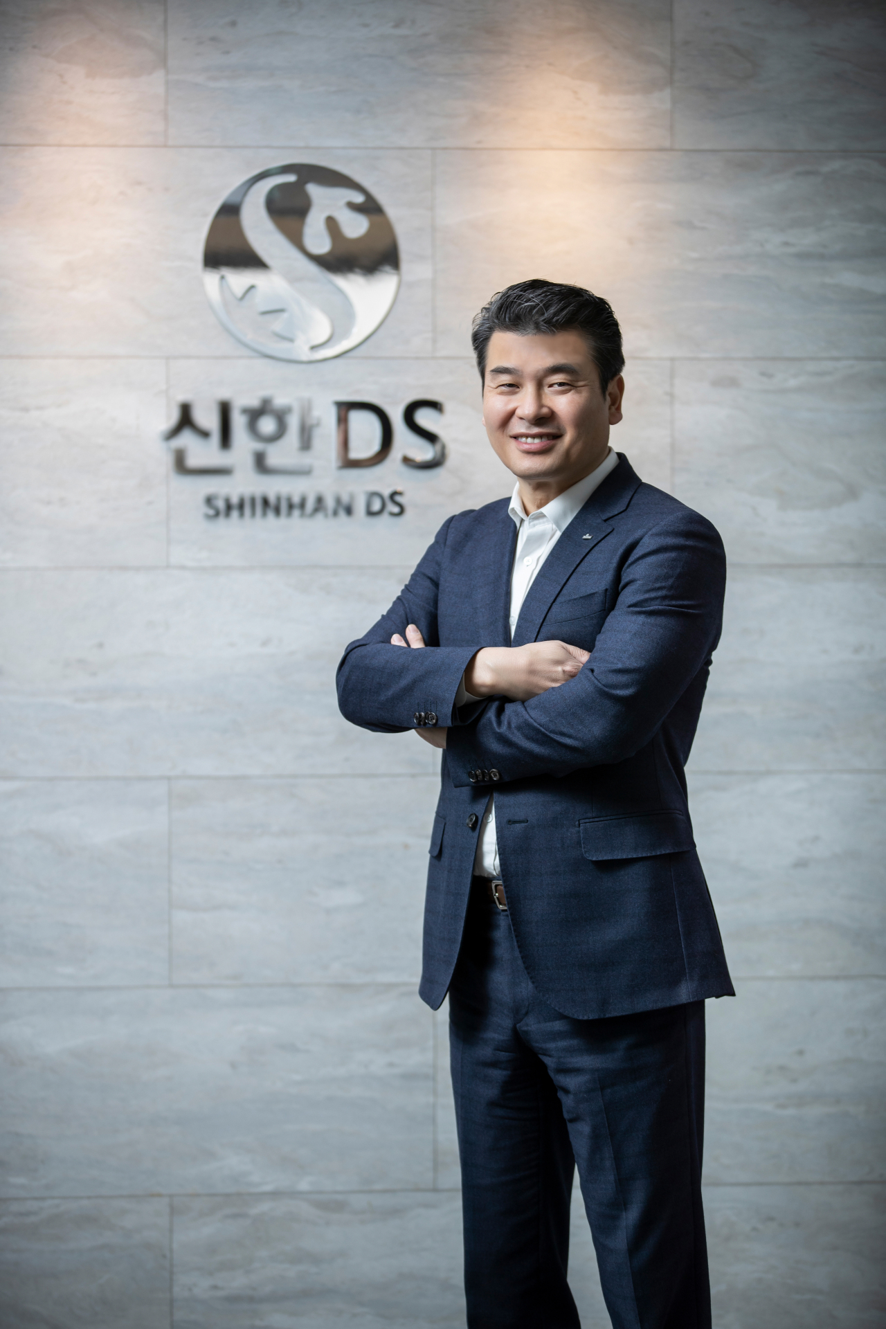 Shinhan DS President and CEO Sunny Yi poses for a photo at the firm in central Seoul. (Shinhan DS)
