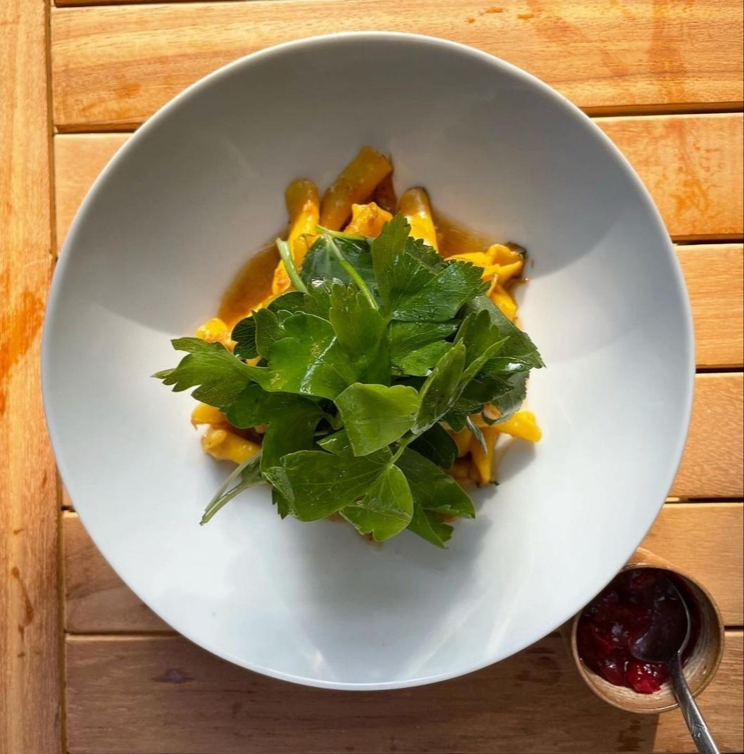 Duck pasta features from-scratch casarecce. (Bistro Anthro)