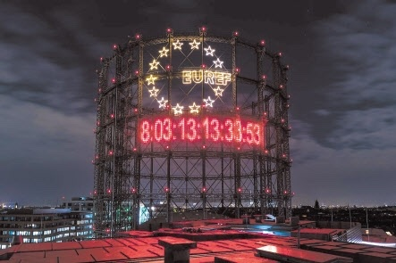 The Climate Clock installed in Berlin, Germany in 2019. (The Climate Clock)