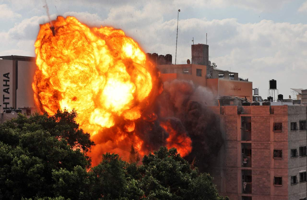 Israel's attack on Gaza Strip on Thursday (AFP-Yonhap)