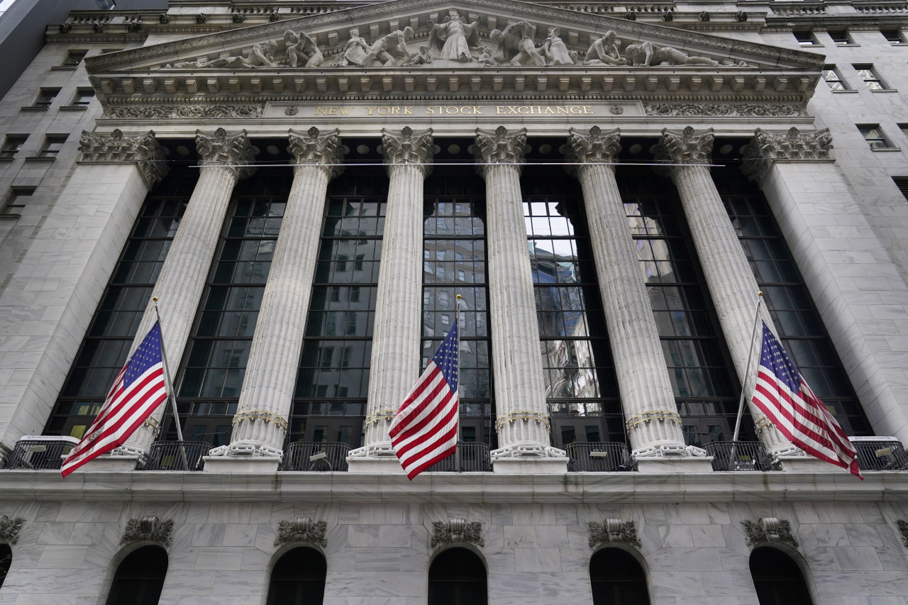 The New York Stock Exchange (AP-Yonhap)