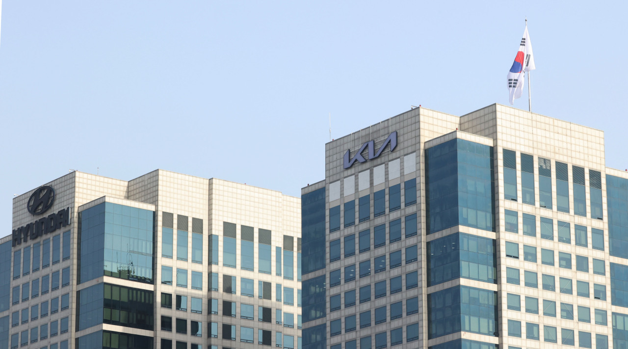 The headquarters of Hyundai Motor and Kia Corp. in Seoul's southern Seocho-gu. (Yonhap)