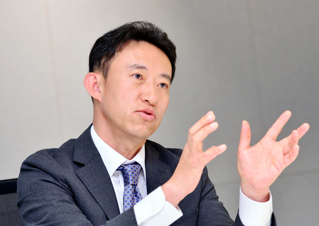 Kim Jong-min, head of overseas investment group at Mastern Investment Management, speaks in an interview with The Korea Herald. (Park Hyun-koo/The Korea Herald)