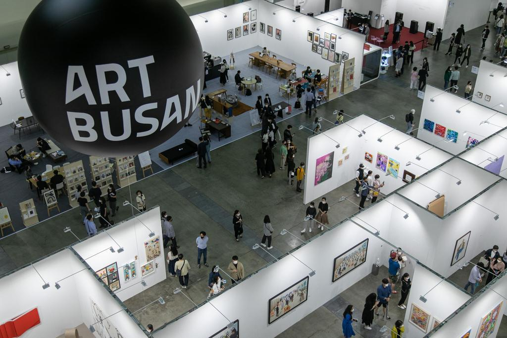 This undated photo, provided by Art Busan, shows the annual art fair taking place at the Busan Exhibition and Convention Center in the southeastern port city of Busan. (Art Busan)