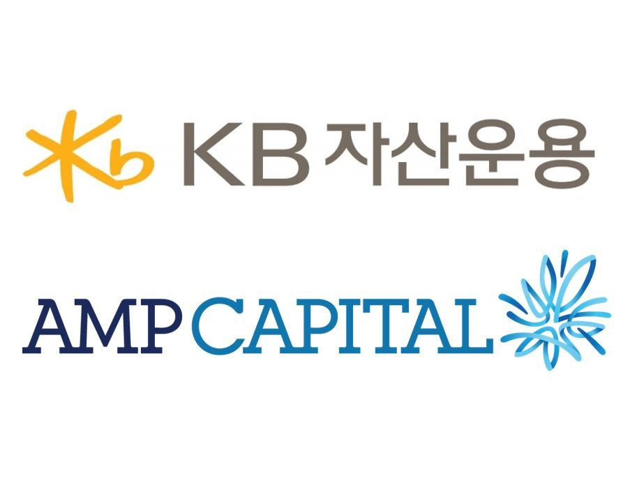 Logos of KB Asset Management (top) and AMP Capital