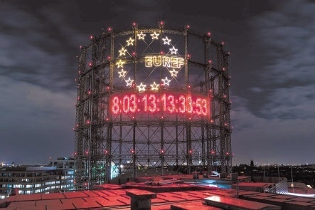 The Climate Clock in Berlin was installed in 2019. (The Climate Clock)