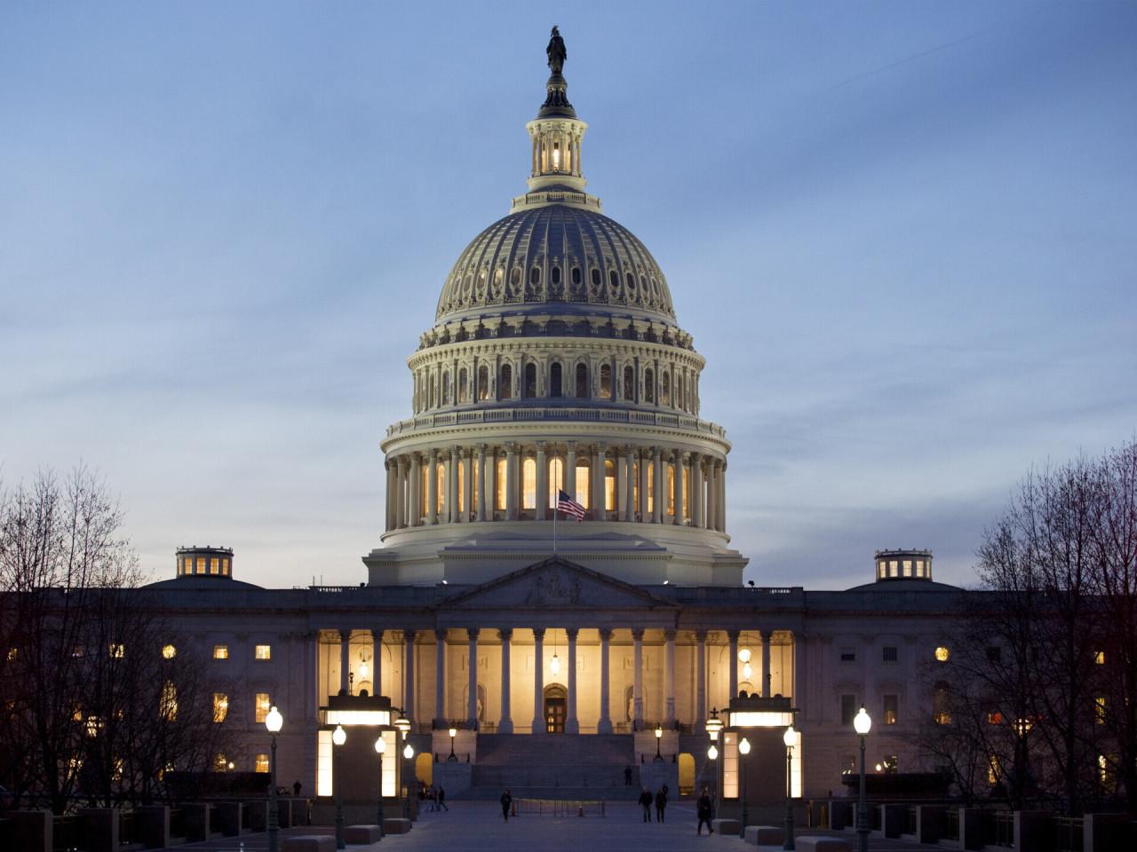 This EPA file photo shows the US Congress building in Washington. (EPA-Yonhap)