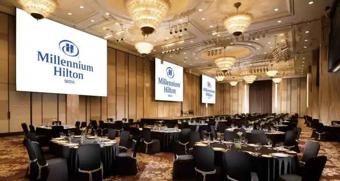 Millennium Hilton Seoul, a five-star hotel owned by CDL Hotel Korea, a Korean branch of the Singaporean investment firm City Developments Limited (Millennium Hilton)