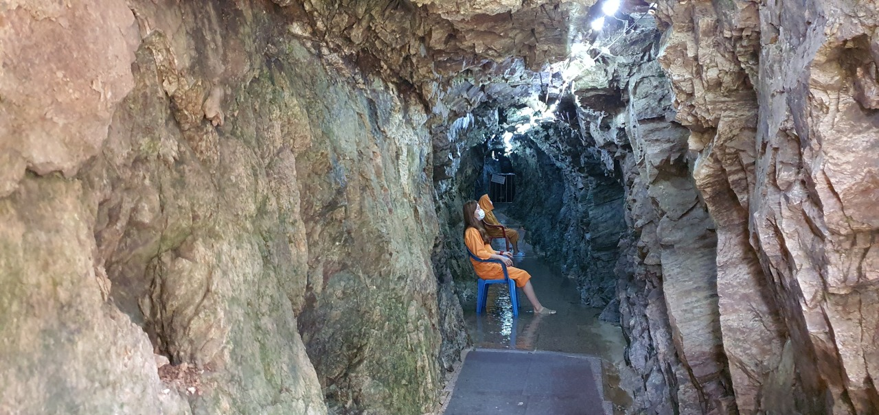 The healing cave located within Anduk Village (Kim Hae-yeon/ The Korea Herald)